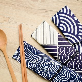 La boos Qinghai wave portable tableware set chopsticks spoon | Christmas exchange gift