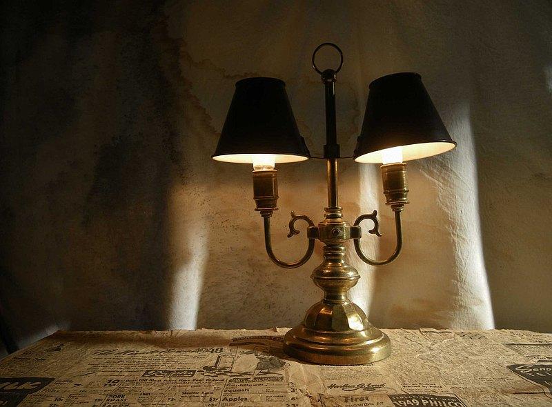 【老時光 OLD-TIME】早期台灣製全銅桌燈(大)