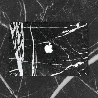 Brand Hong Kong Sell Good original marble texture MacBook film Protector - Black