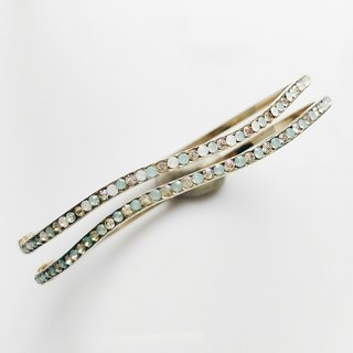 momolico candy arm brass wave fine diamond bracelet