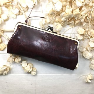 Long wallet / Unisex / Gamaguchi / Leather / Leather