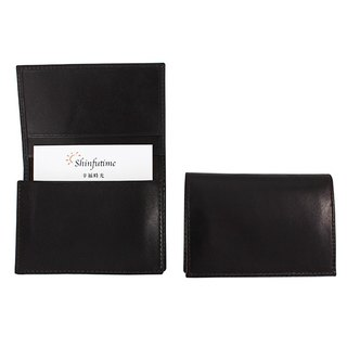 LAPELI │ plain cow leather business card holder deep coffee