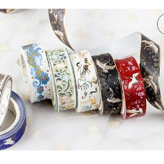 Jin foil bronzing series and paper tape creative hand account decoration DIY tape 12 optional
