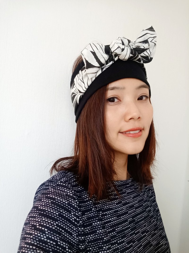 Double-deck Headband Black