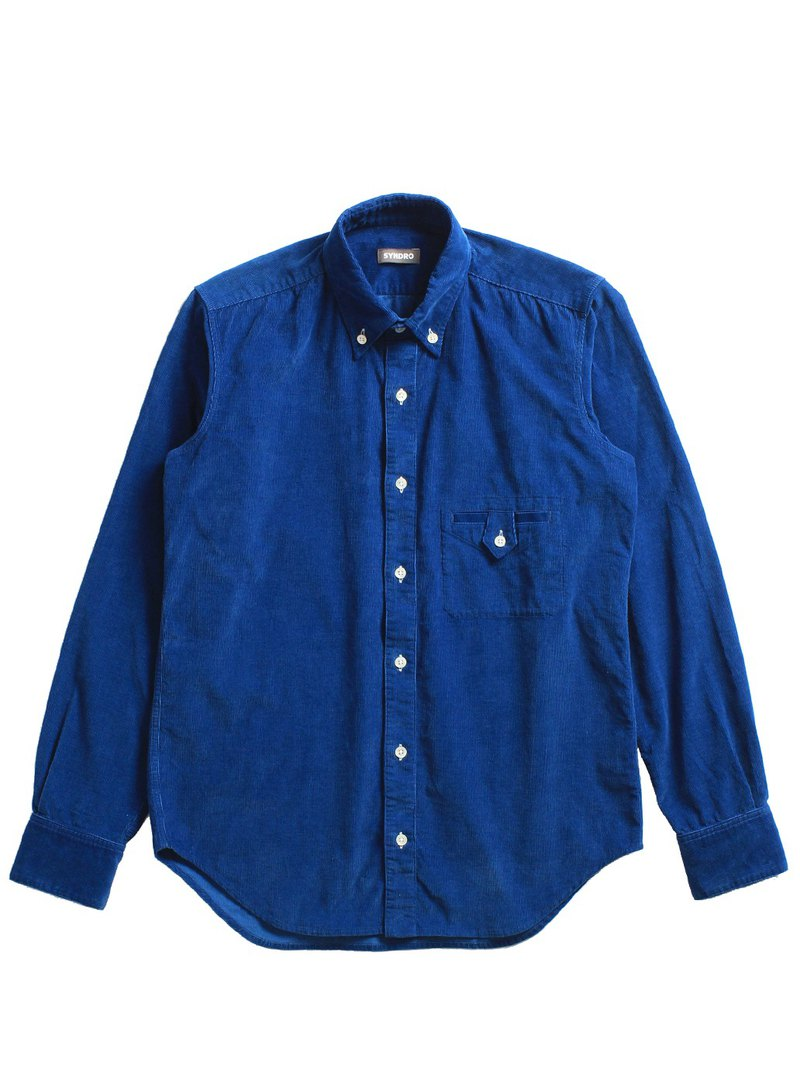 """BUTTON UP !!"" BUTTON-DOWN SHIRT-LIGHT INDIGO"