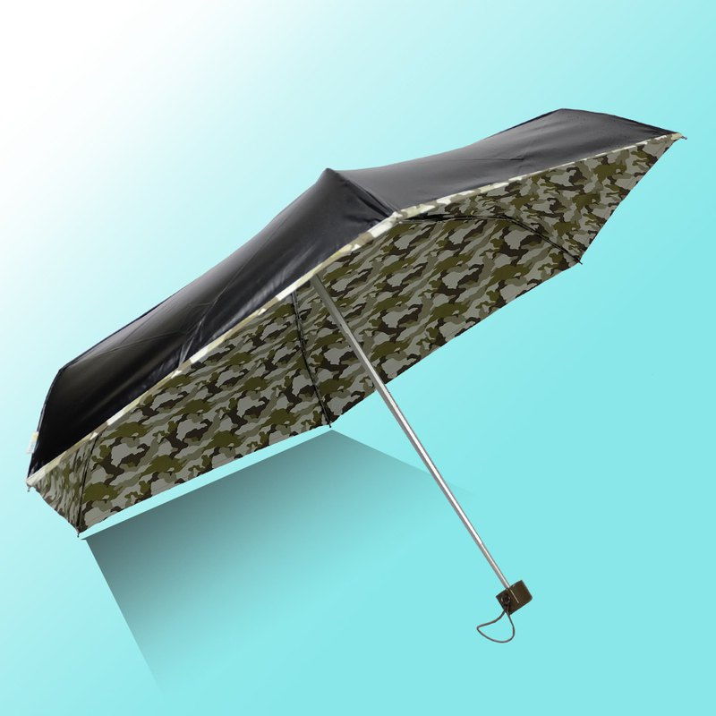 [Taiwan Wenchuang Rain's talk] Cooling camouflage anti-UV 50% hand open umbrella