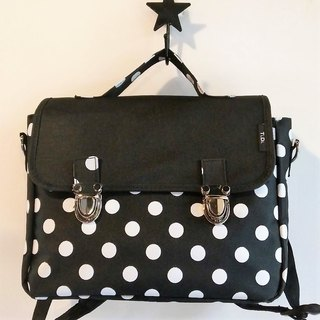 TiDi black and white point of the French square school bag