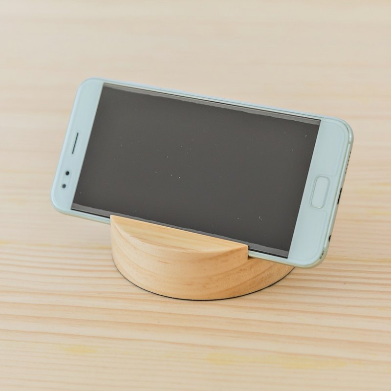 [Log phone seat] handmade business card holder mobile phone holder birthday gift corporate gift