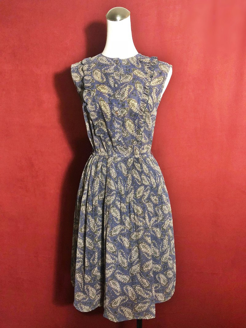 Totem ruffled sleeveless vintage dress / brought back to VINTAGE abroad