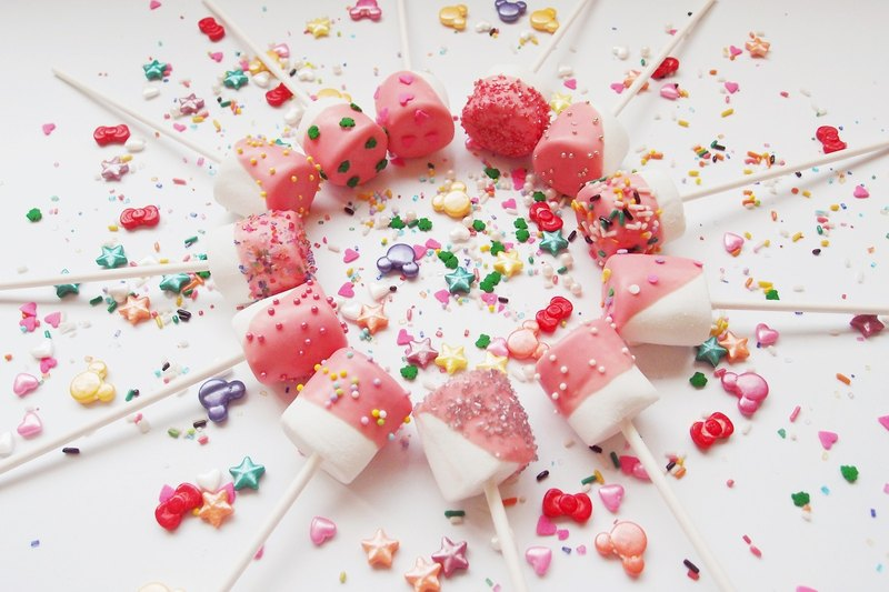 Color sugar bead stick marshmallow