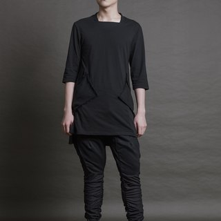 Kuroko series - Knitted double-sided pocket top (SSP-17AW-01)