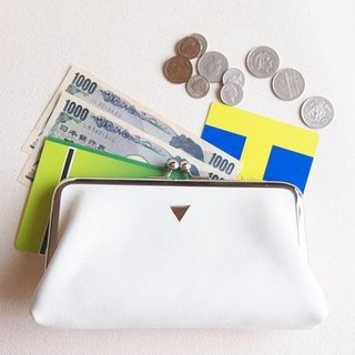 Coin Long wallet Triangle White