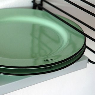 Cabanaz - BREAKFAST PLATE dish / vintage green