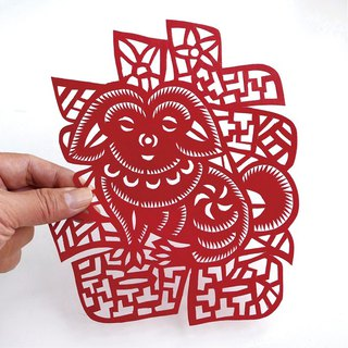囍 dog paper-cut go27