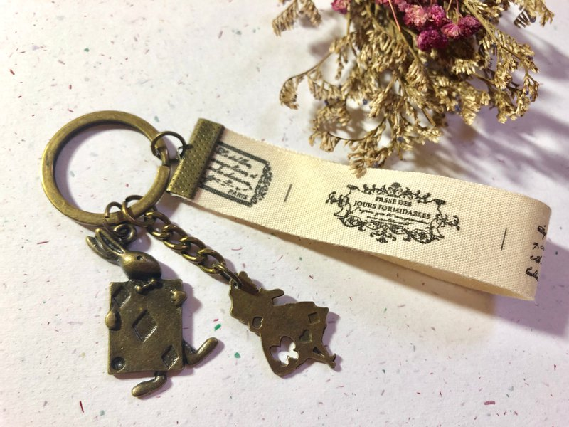 [Exclusive Custom] Alice Bronze Charm / Couple / Valentine's Day Gift / Decorative Key Ring