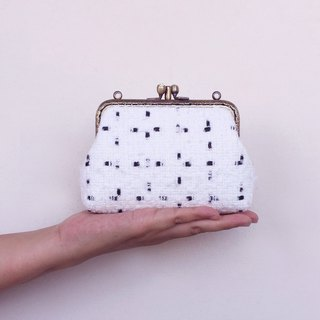 Small woven double-layer gold - card bag / coin purse