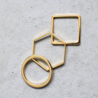 Fyntage | Geometric & Minimal | minimalist line ring the whole group (the three) unique, Valentine's Day, Mother's Day, birthday gift girlfriends