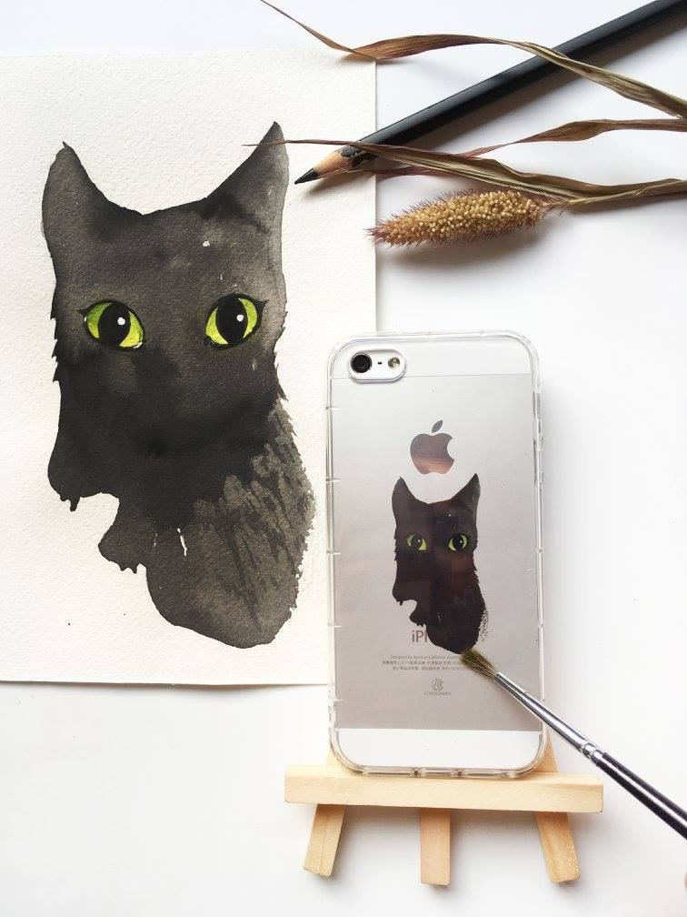 Black Cat - Free Mobile Shell | TPU Phone case Anti-fall Air Shell |