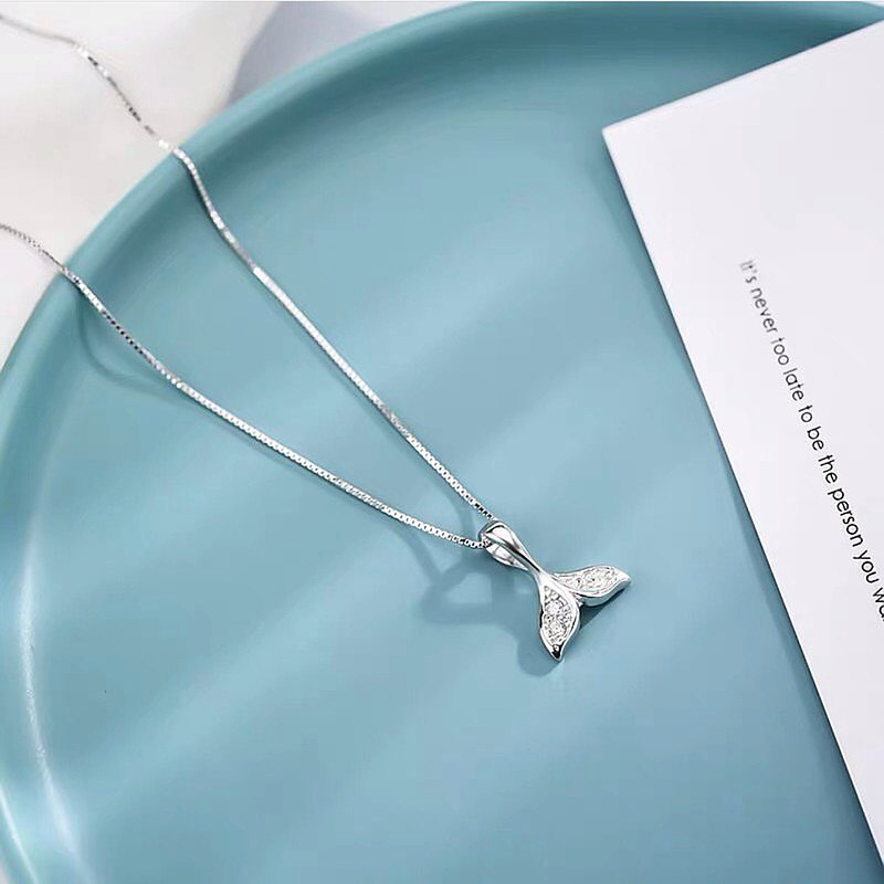 Bring Lucky Fish Tail Necklace (925 Sterling Silver) Valentine's Day Gift Christmas Gift