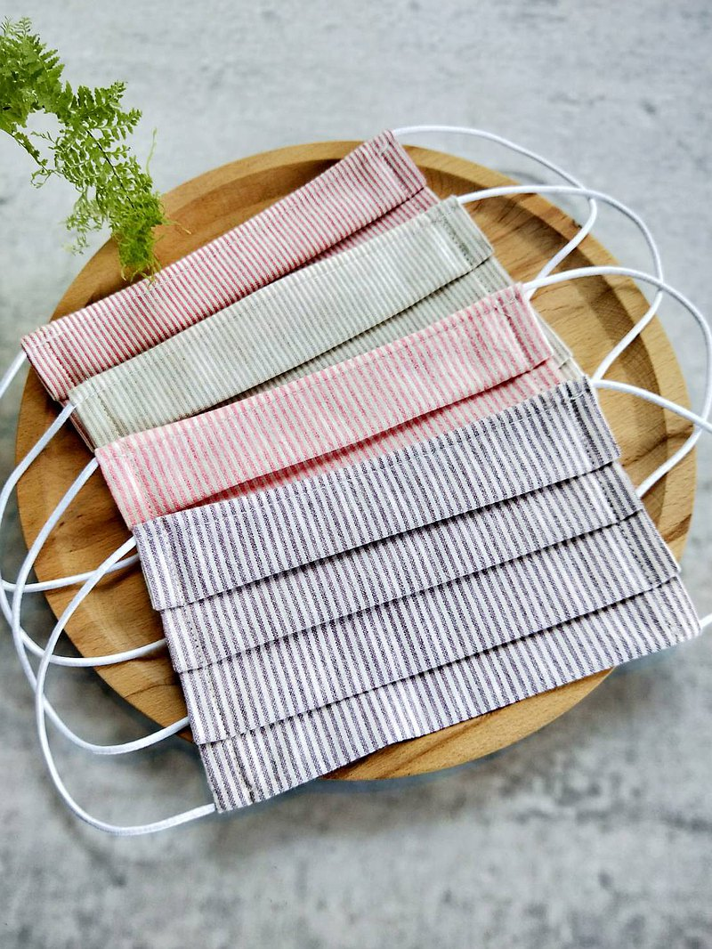Folding cloth masks | Flatable filter material | Nose bridge bead design | Striped section | Cotton and linen breathable section | Adult.Child