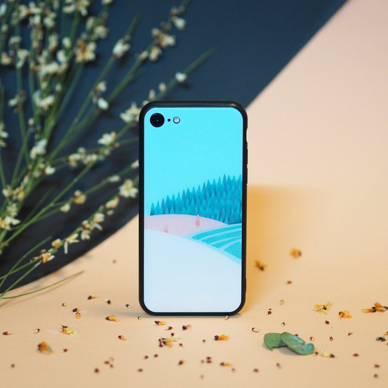 3D Tempered Glass iPhone Case - Harmony Field