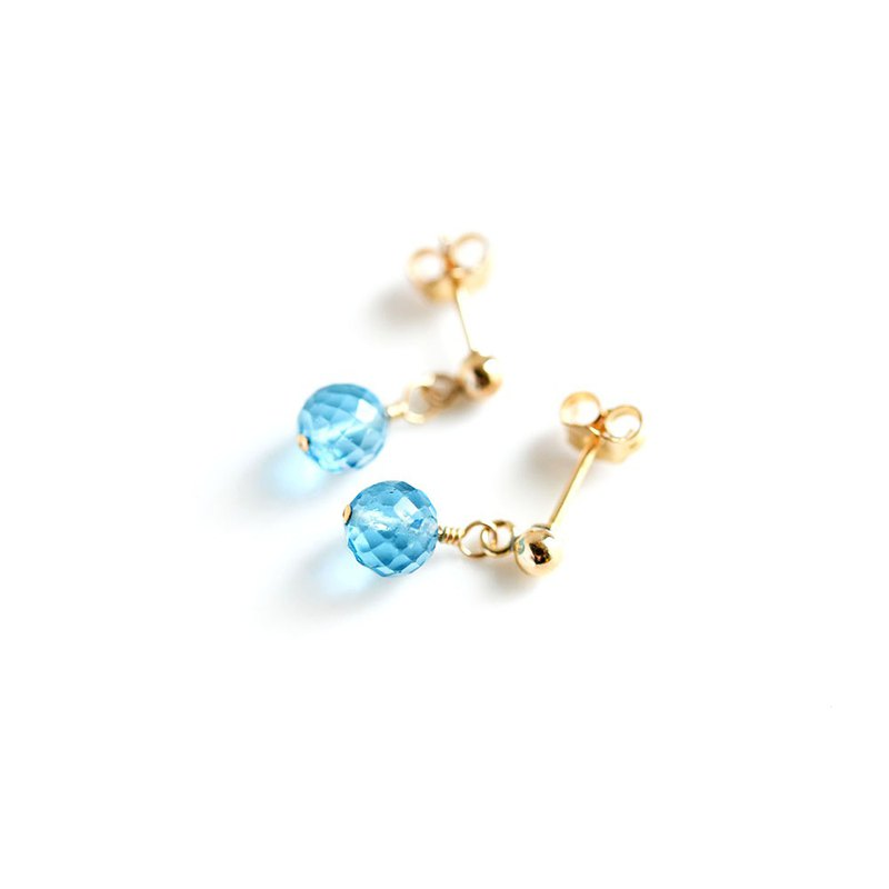 A Single Stud Earring in Swiss Blue Topaz that Brings You the Needs and Opportunities