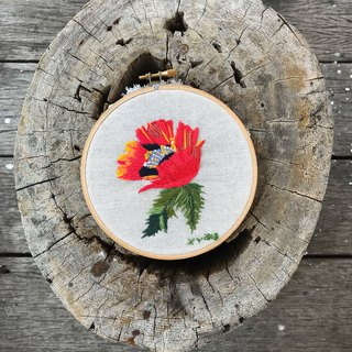 The Poppy Embroidered hoop