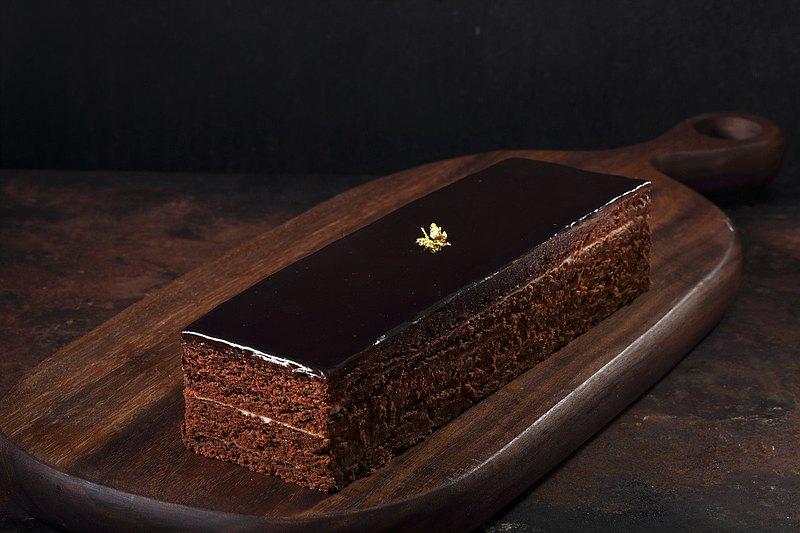 蕭邦夜曲-80%純黑巧克力無粉蛋糕