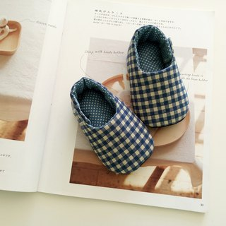 Blue Lattice Moon Gift Baby Shoes 13/14