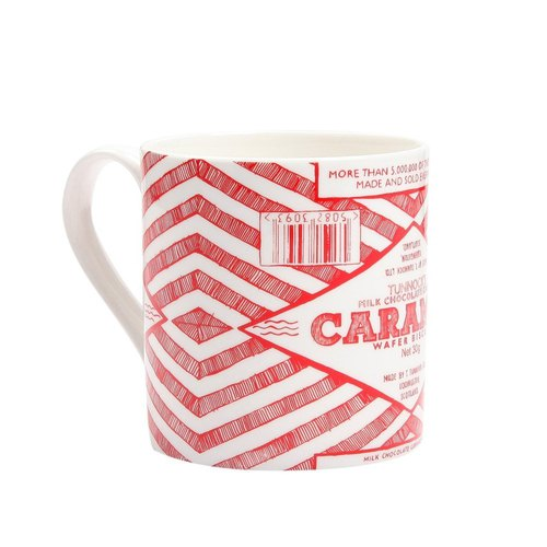 SUSS-Exclusive Agency UK Gillian Kyle and Tunnock Co-design Pupu Style Hand-Drawing Caramel Cookie Text Mug - Spot Free Shipping