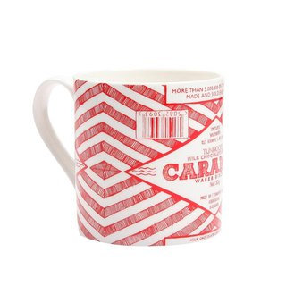 British Gillian Kyle and Tunnock co-branded pop-up hand-painted caramel biscuits text mug