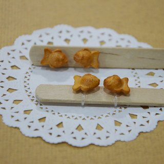 Japanese confectionery group earrings (clip-on ear acupuncture OR) - yaki