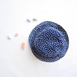 Summer double-sided fisherman hat series | Kyoto flavor deep blue