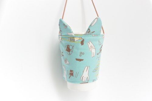 Rabbit ears eco cup set - rabbit blue