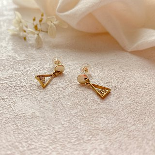 Lovely angels-zircon brass earrings