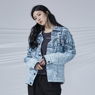 DYCTEAM - Cross Pattern Jacquard Jacket