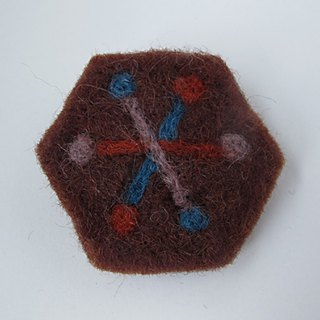 Earth tree fair trade fair trade -- wool felt hexagonal snowflake pin