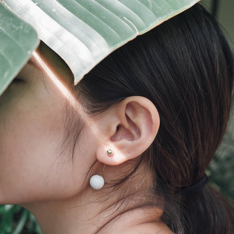 Marble Concrete Bubble Earrings