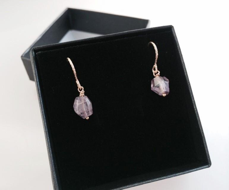 ◇ Natural Spinel Ore ◇ K14GF Earrings 2