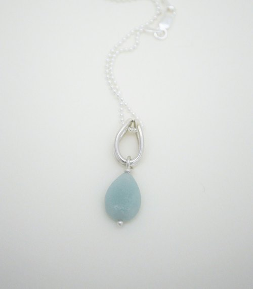 Cool Series-Silver‧Amazonite Necklace