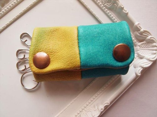 [Pig leather soft key case multi-color leather 15280011