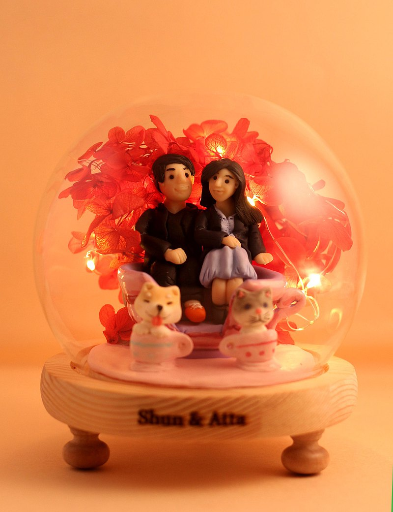 Valentine's Day gifts, with LED lighting effects inside, you can customize your name. Provide photo custom character shape