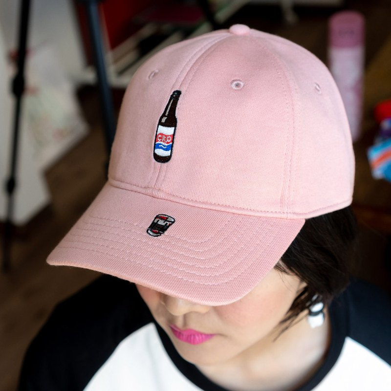 Fun embroidery baseball cap pink neutral adjustable happy cola old Shanghai glass culture