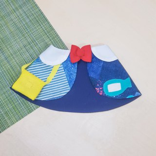 Limited*Japanese Kindergarten Pet Shawl*Denim Stitching