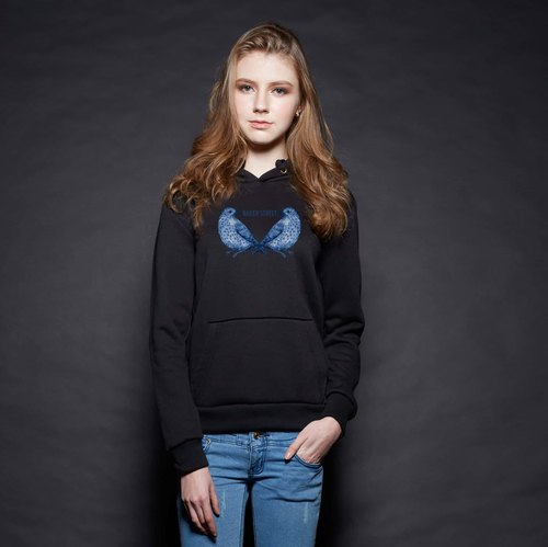 British Fashion Brand [Baker Street]Blue Birds Printed Hoodie