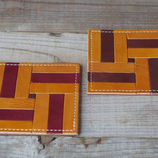Nume leather mosaic coaster (D)