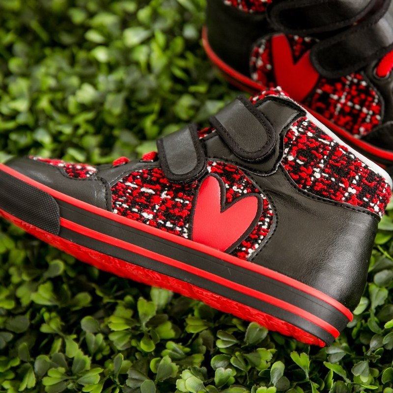 Becka red hair love high-top casual shoes