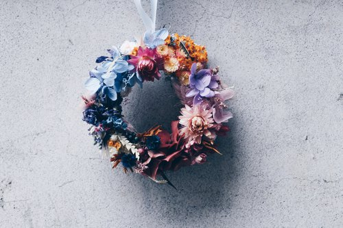 Flower Wreath!!【天后-赫拉赫era】Dry flower eternal flower wreath decoration healing
