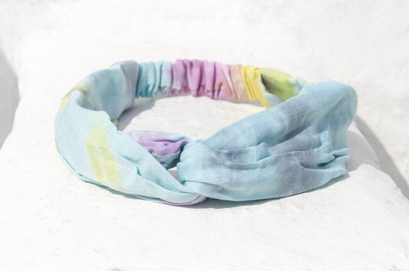 Christmas gifts Christmas market exchange gift limited a handmade hair band / French hair band / double knot hair band / elastic hair band / handmade cotton hair band / gradient hair band - blueberry fruit gradient gradient of the rainbow