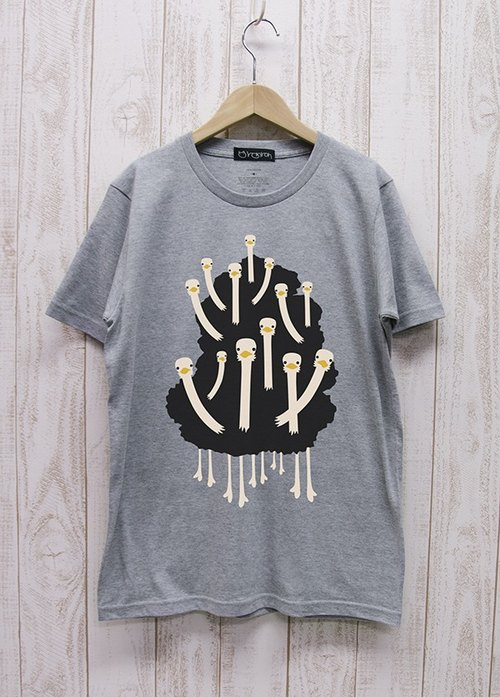 Ostrich club Tee (Heather Gray) / RIT 004 - GR